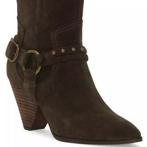 Lucky Brand Majoko Brown Boots 8 1/2 Storm